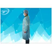 Quality 18-40G / M2 Disposable Medical Gowns Nonwoven With Knitted Cuff for sale