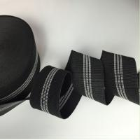China Black Color Width 3 Inch Replacement Webbing For Outdoor Furniture on sale