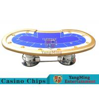 Quality 10 Players Casino Poker Table / Custom Poker Tables With Disc Shape Legs for sale