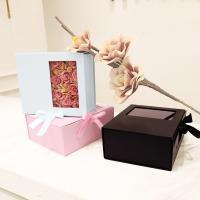 Quality Card Board Paper PVC Window Folding Packaging Boxes Tie A Bow Ribbon Rose for sale
