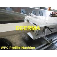Quality 180mm / 240mm Wood Plastic Extrusion Line For Door Frame Profiles / Architrave for sale