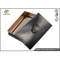 Quality Black Customizable Wine Gift Packaging Cardboard Paper Drawer Box for sale