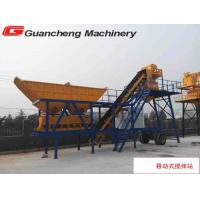 China Mobile concrete batching plant with cement silo and easy moving on sale