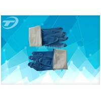 Quality Seamless Disposable Medical Gloves , Full Finger Powdered Latex Gloves for sale
