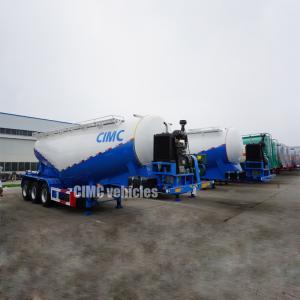 Quality Powder trailer bulk powder material tanker bulk lime powder tanker semi trailer   CIMC TRAILERS for sale