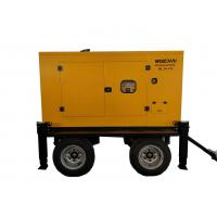 Quality Closed Cooling  50KVA 50HZ  Trailer Mounted Diesel Generator With Stamford Alternator for sale