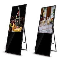 Quality HDMI 1080P 55in Foldable LCD Display Portable 70W Floor Standing for sale