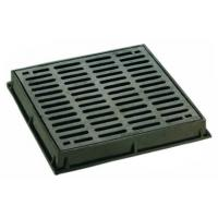 Quality Dished Square Round Cast Iron Drain Grate Covers Cast Metal Driveway Drainage Grates for sale