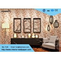 Buy Floral Pattern Luxury Non Woven Wallcovering Modern Lounge Wallpaper at wholesale prices