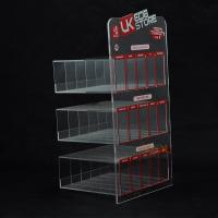 Buy Custom Plastic E - Cigarette Display Stand Transparent More Rows More Tiers at wholesale prices