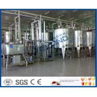 Heat Treated Pasteurized Milk Dairy Processing Plant With Milk Pasteurization Machine