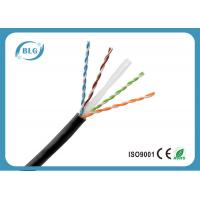 Quality Single PE Cat6 Network Ethernet Cable / 8 Core Copper Cat6 UTP Network Cable Black for sale