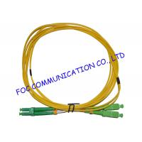 China Flame Resistant SM Fiber Optic Patch Cord G.652D LC / APC - SC / APC LSZH Jacket on sale
