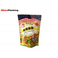 Quality Heat Sealing Stand Up Barrier Pouches 350g Mixed Vegetable Food Packaging for sale