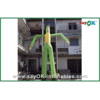 Quality Green Dancing Man Balloon Inflatable Wacky Tube Man For Advertisement for sale