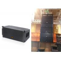 China Two-way Line Array Speaker Passive Mode Dual 10 Inch Black Wooden Box on sale