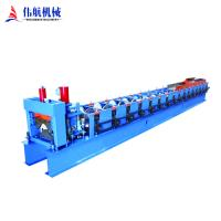 Quality Colored coated metal steel profile galvanized sheet roof tile ridge cap roll forming machine for sale