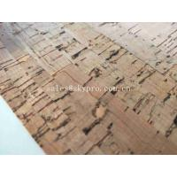 China Real Wood Pattern Rubber Sheet Roll Natural Cork Leather Fabric for Shoes Making on sale