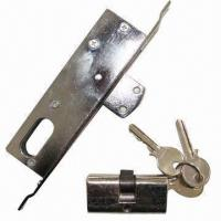 China Drop bolt lock, with chrome- or brass-plated finish on sale