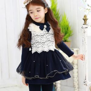 China Branded Winter Spring Kids girl dress on sale