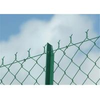 Rectangle PVC Coated Chain Link Fence Galvanized PVC Coated Wire Mesh Fencing