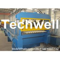 Quality Aluminium Corrugated Sheet Roll Forming Machine With Plc Frequency Control System for sale