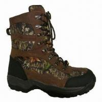 Quality Hunting Boots with Waterproof Leather and Camouflage Upper for sale