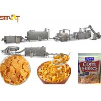 Quality Automatic Corn Flakes Production Line Breakfast Cereal Corn And Wheat Flakes Millet Flakes Making for sale