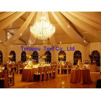 Quality Frame wedding tent, wedding marquee with curtain, lining, light and table for sale
