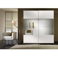 Quality Durable High Gloss Bedroom Furniture With MDF Mirror Sliding Door Wardrobe for sale