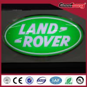China Round Steel Backlit Light Led Car Logo Or Emblem with their names for dealerships store on sale