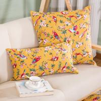 flower and bird home decorative pillow case pattern cotton canvas throw pillow cover for sale ...
