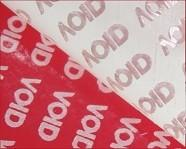 Red Matt Stock Tamper Evident Security Labels Without Printing In Rolls Packing
