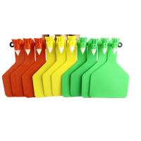 Quality One Side Yellow Colour Visual Sheep Tags For Cattle for sale