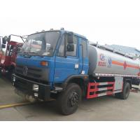 Quality Dongfeng 153 4*2 14.5cbm aluminum alloy fuel tank truck/fuel refueling tanker truck, hot sale 15m3 oil dispensing truck for sale