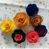 Quality Beautiful Rose Fabric Daisy Flowers , Custom Fabric Flowers For Dresses for sale