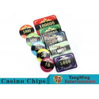 Professional Casino Texas Holdem Poker Chip Set With Customized Denomination for sale