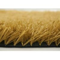 40mm Yellow Brown Artificial Putting Green Grass For Patios Rooftops Balconies