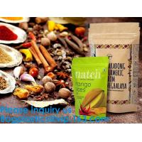 Quality SIDE GUSSET COFFEE BAGS,STAND UP COFFEE BAGS,KRAFT PAPER COFFEE BAGS Foil Zip Lock Stand Up Food Pouches Bags with Notch for sale