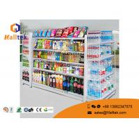 Quality Adjustable Color Supermarket Gondola Shelving Strong Construction Capacity for sale