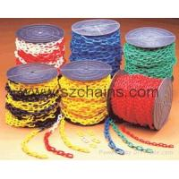 China Plastic chain,Roadway Safety,Plastic stanchions, warning chain,Link Chains for sale