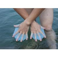 China Non - Slip Silicone Swimming webbed water gloves for diving , swimming webbed gloves on sale