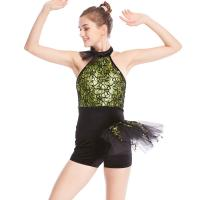 Quality Biketard Jazz Costume Dance Wear Sequins Gymnastics Performance Dance Competition Clothes for sale