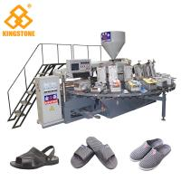 China Plastic Shoe Making Production Line , Rotary TPR PVC Shoe Sole slipper Making Machine  on sale