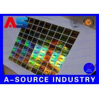 Quality PET Custom Holographic Stickers /  Custom Decal Stickers With Scratch Off Code for sale