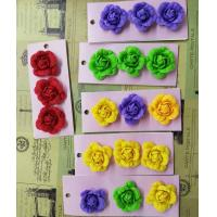 Quality Eco - Friendly Fabric Flower Accessories Customized Size Felt Material for sale