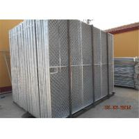 Quality Pre - Galvanized Pipes 14 Microns Portable Chain Link Fence Panels for sale