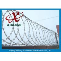 Quality Security Fencing Cross Razor Barbed Wire / Stainless Steel Razor Combat Wire for sale