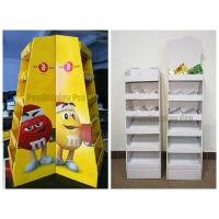 Quality Floor Display Shelf  POS for MM's Chocolate Cardboard Made with Client's Logo for sale