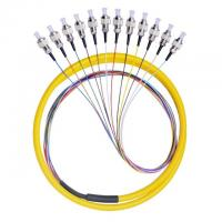 Quality 12 Core FC / UPC Fiber Optic Pigtail 12 Color Fan Out Fiber Pigtail With LSZH Cable for sale